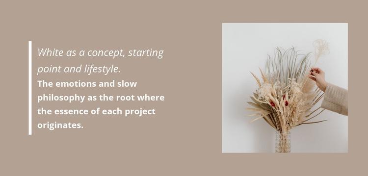 Floristic decorations Web Page Designer