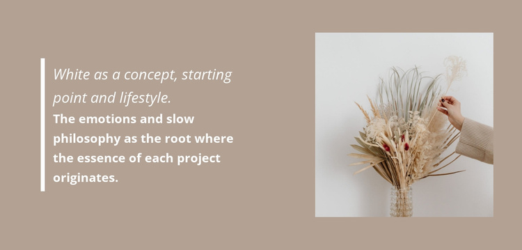 Floristic decorations Website Template