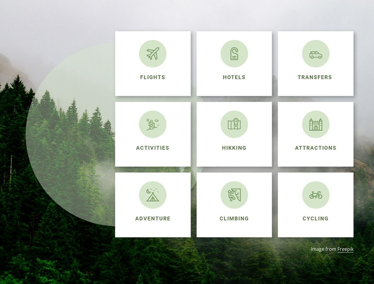 Travel company services Web Page Design