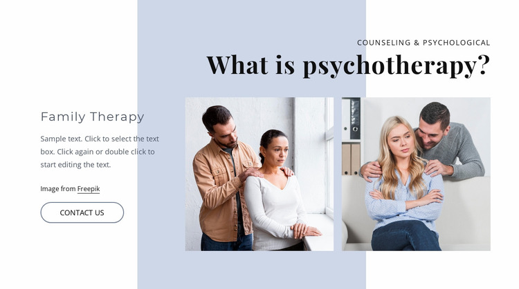 What is psyhotherapy Website Mockup