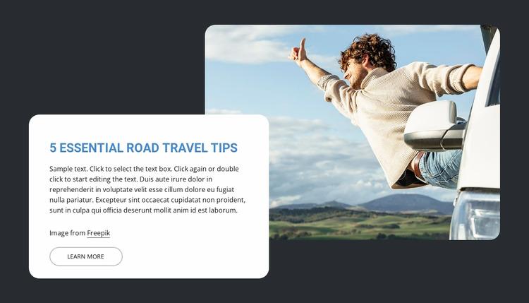 5 Essential road travel trips WordPress Website Builder