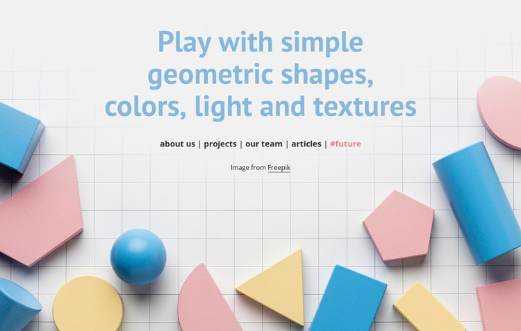 Play with geometric shapes WordPress Website Builder