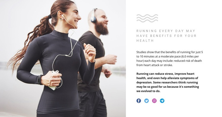 Running can reduce stress Web Page Designer