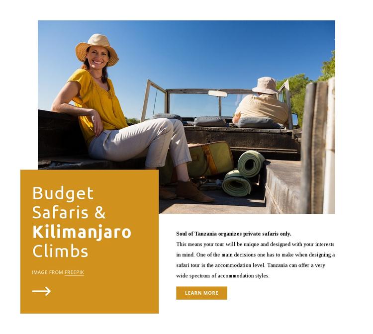 Kilimanjaro climbs Website Builder Software