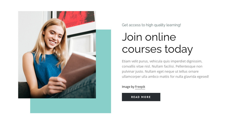 Build skills with courses Website Builder Software