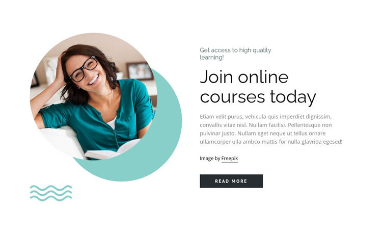 Flexible education with focus on individual approach HTML Template
