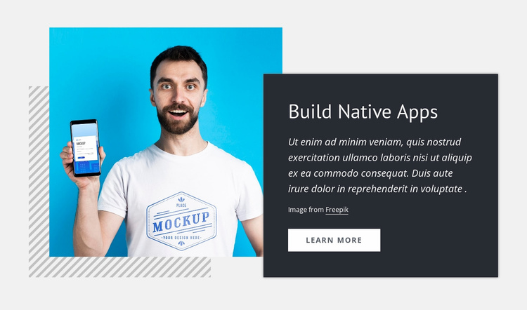 Build native apps Landing Page