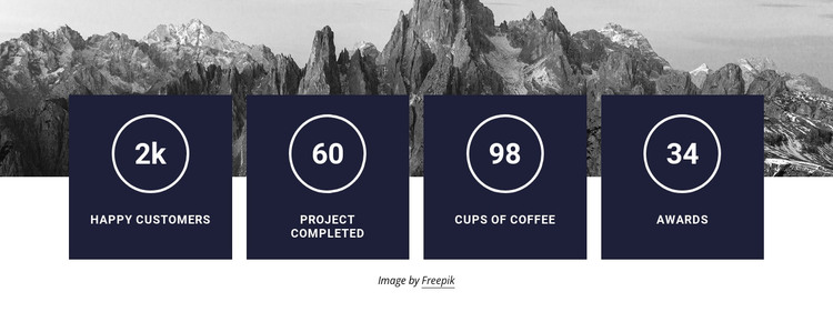 Counters with image background HTML Template