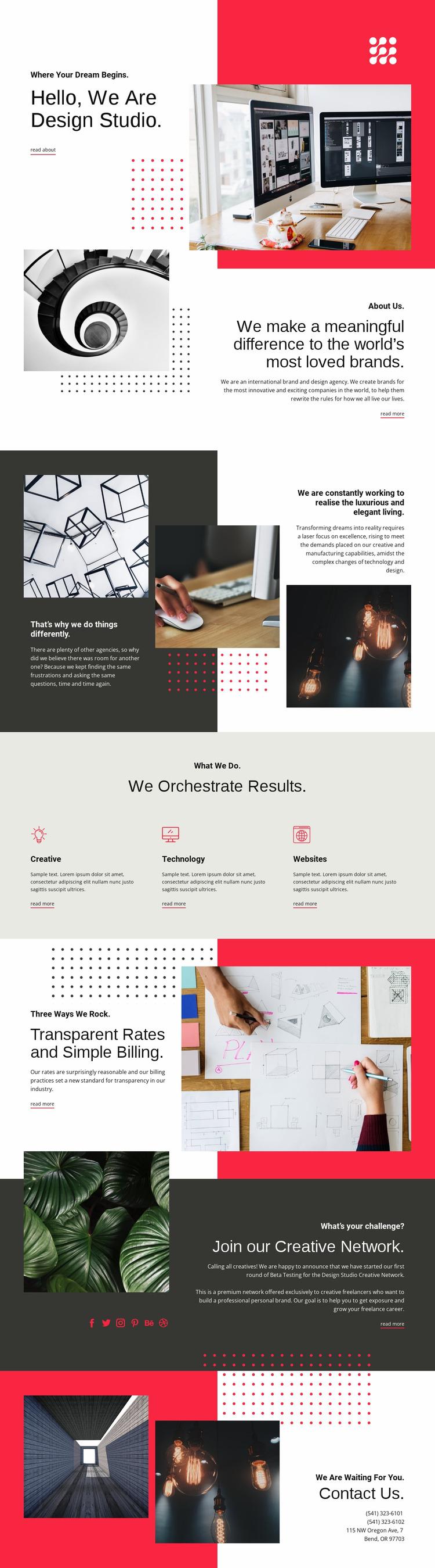 We contribute to art Html Website Builder