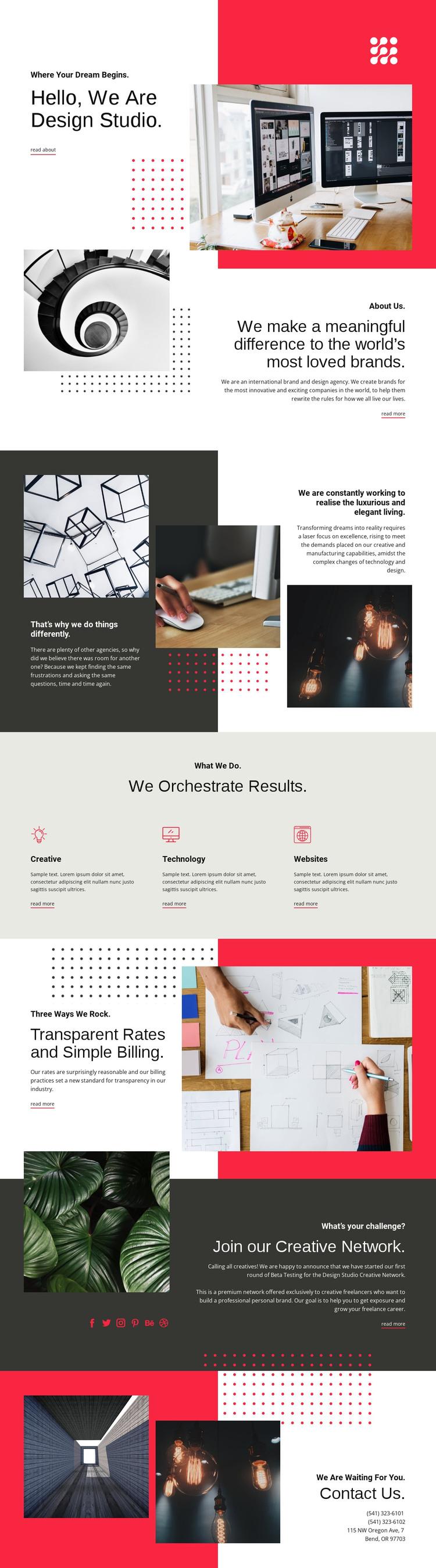 We contribute to art Web Design