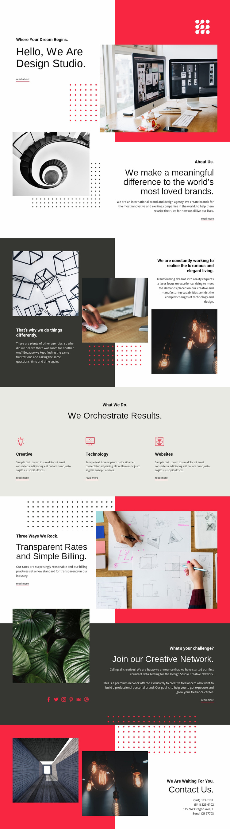 We contribute to art Website Template