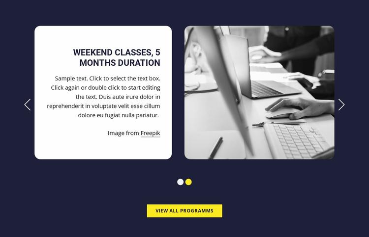 Weekend classes Website Template