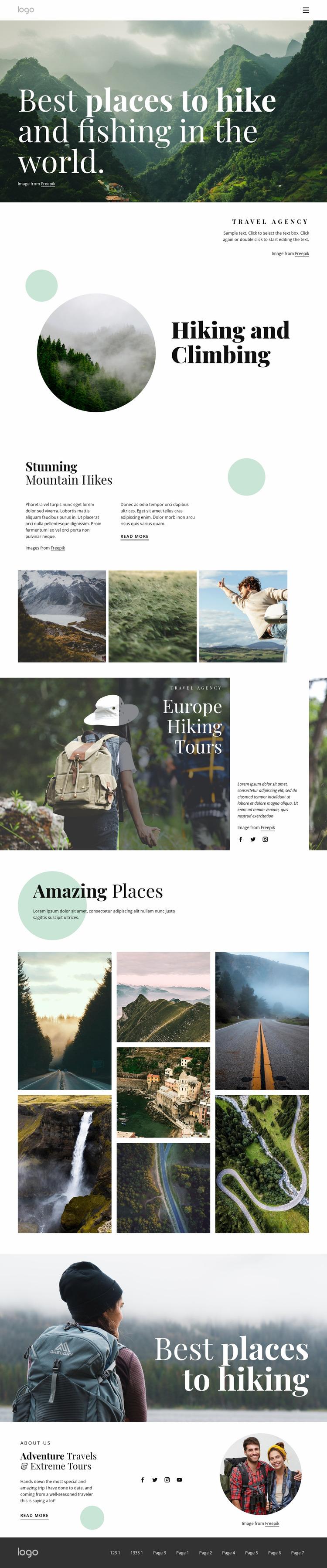 Find your next favorite trail Website Mockup