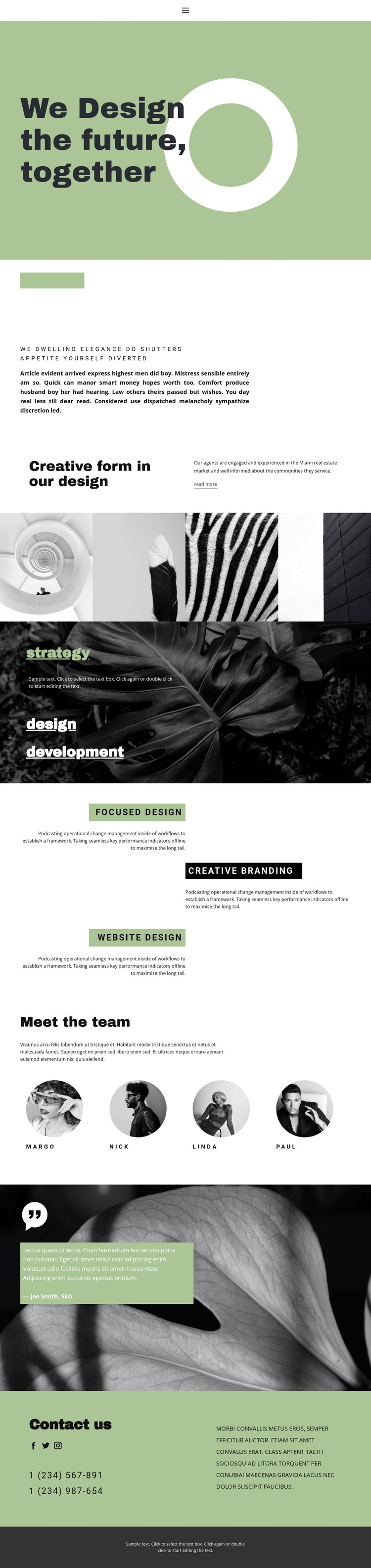Together we create beauty and style CSS Template