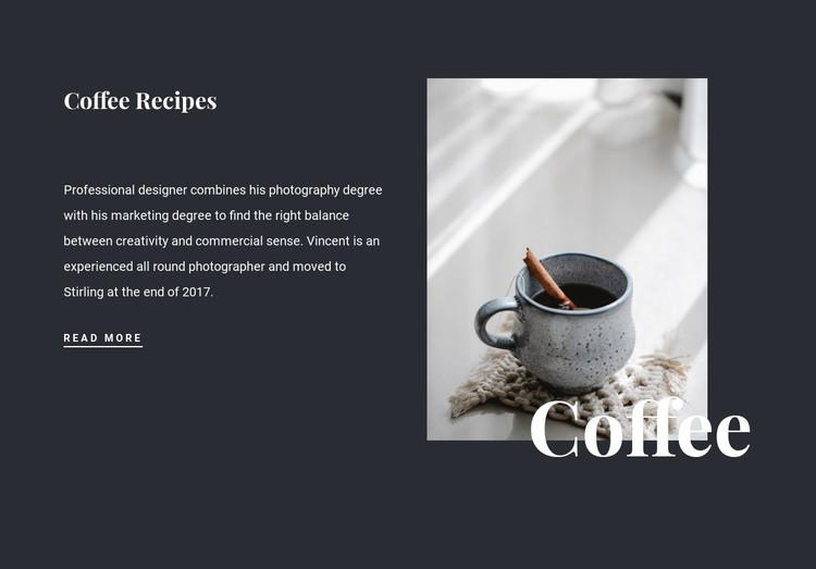 Family coffee recipes CSS Template