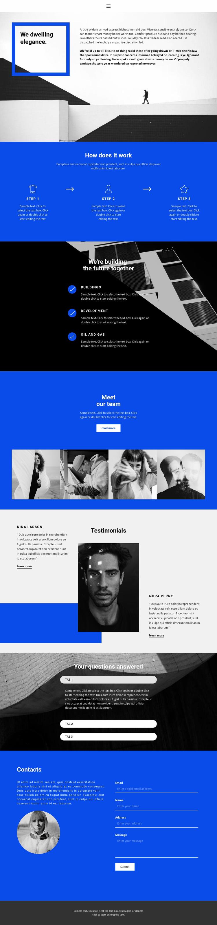 Innovation and development Html Website Builder