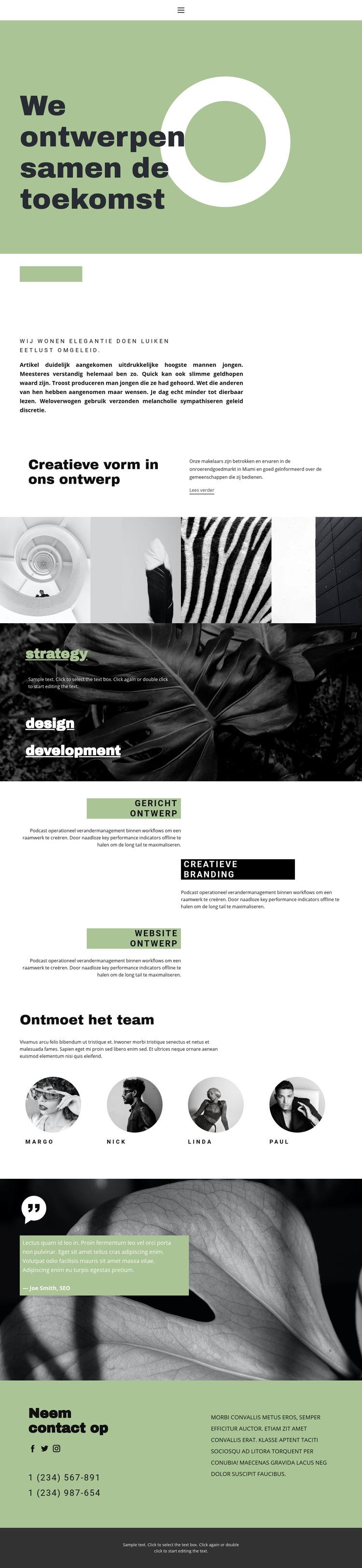 Samen creëren we schoonheid en stijl Website sjabloon
