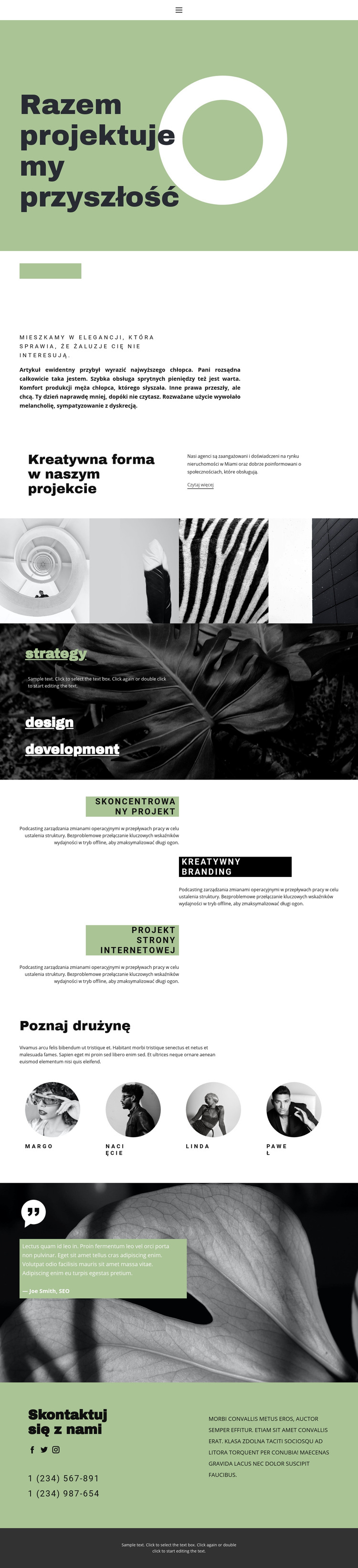 Razem tworzymy piękno i styl Szablon witryny sieci Web