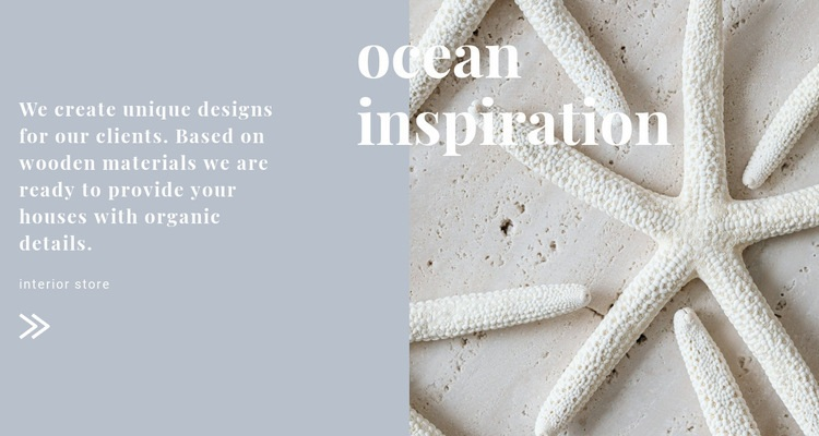 Ocean inspirations Web Page Design