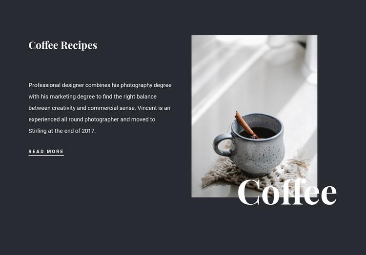 Family coffee recipes Website Builder Software