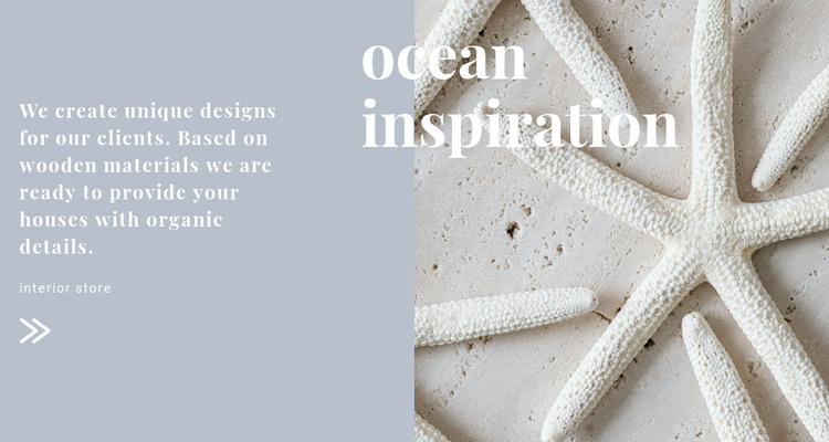 Ocean inspirations Website Builder Software