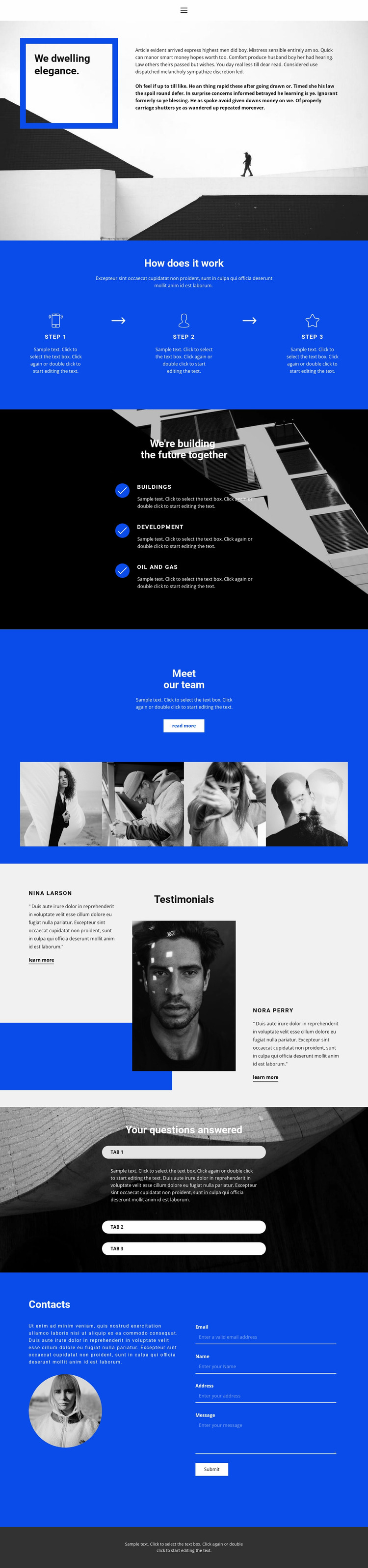Innovation and development Website Mockup