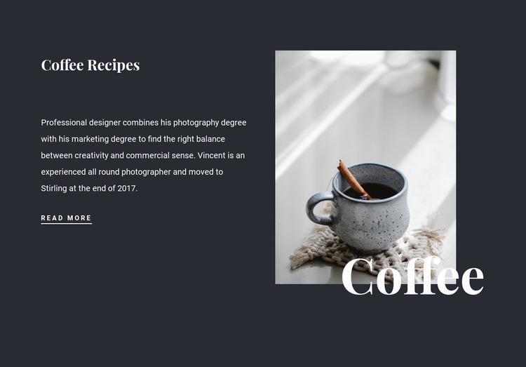 Family coffee recipes WordPress Website Builder