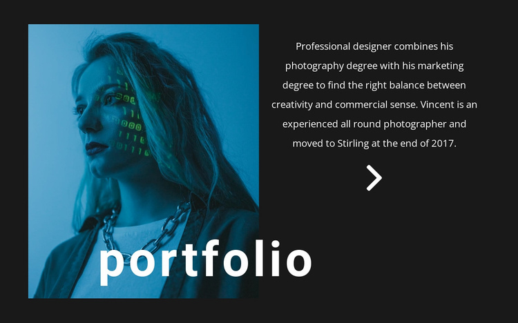 Digital portfolio Website Template