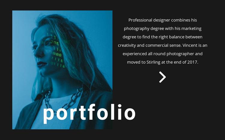 Digital portfolio Landing Page