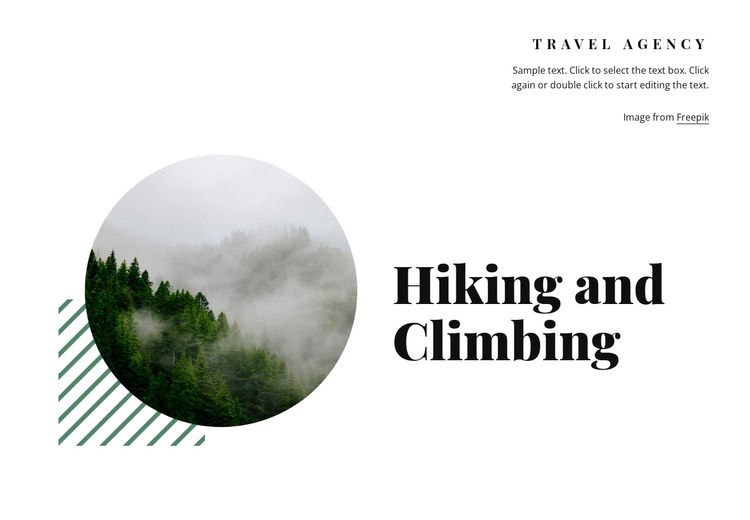 Hiking and climbing Website Builder Software