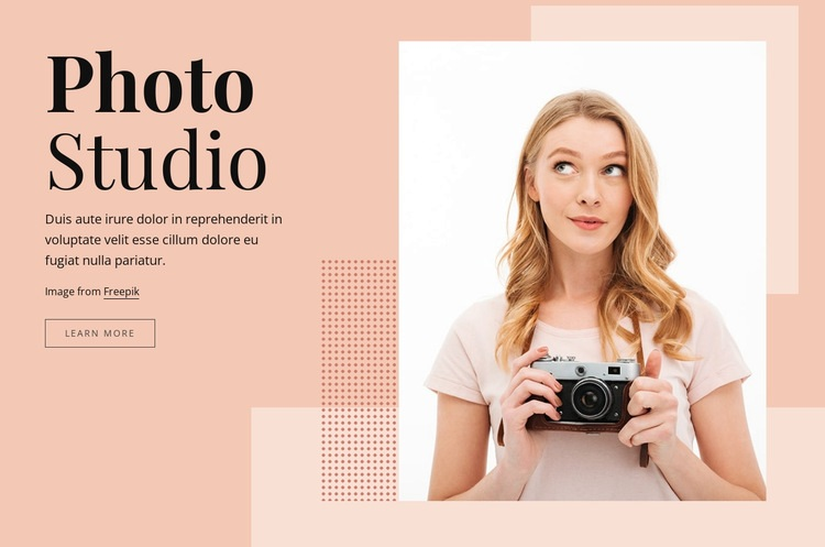 Photography studio Html Code Example