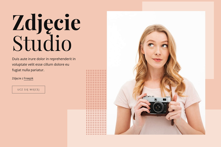 Studio fotograficzne Szablon witryny sieci Web