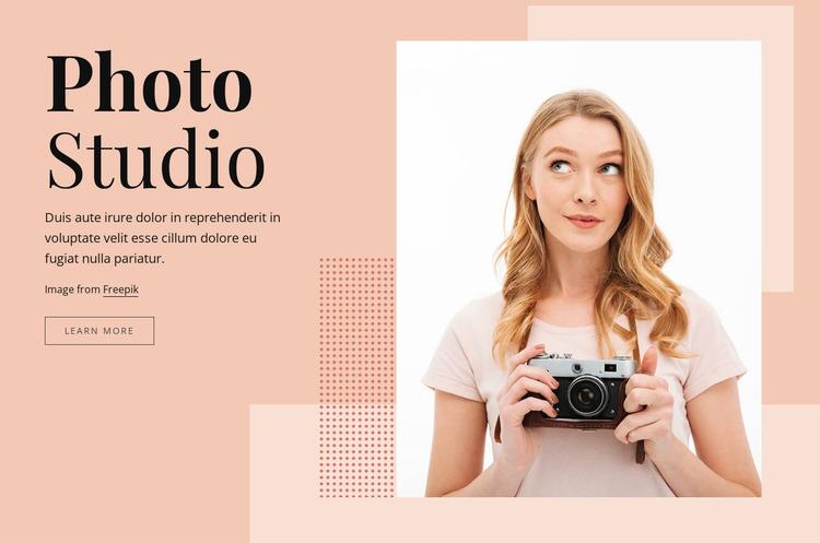Photography studio WordPress Website Builder