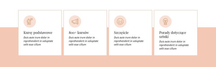 Funkcje na jasnym tle Szablon witryny sieci Web