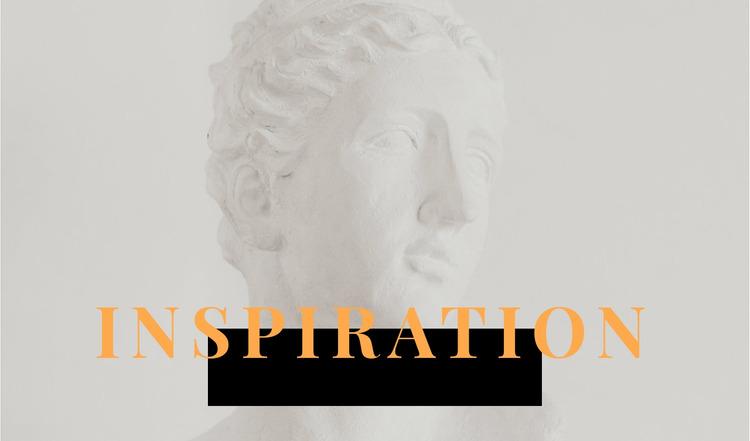Inspiration in art Html Website Builder