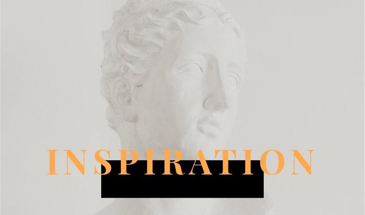 Inspiration in art Static Site Generator