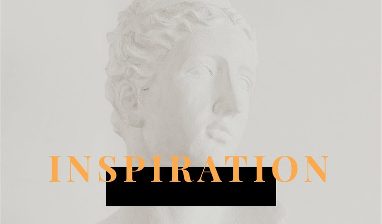 Inspiration in art Web Page Design