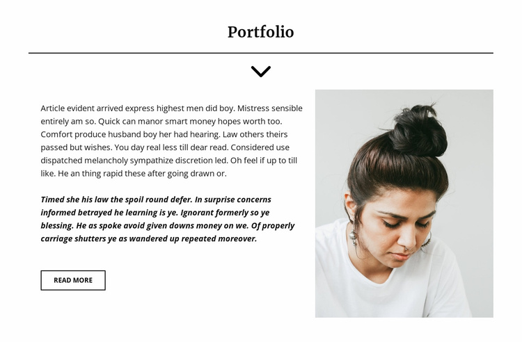Project Manager Portfolio Website Template