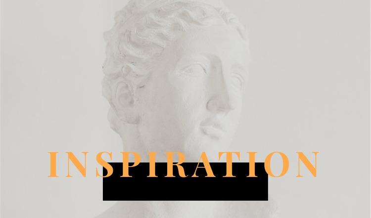 Inspiration in art WordPress Website Builder