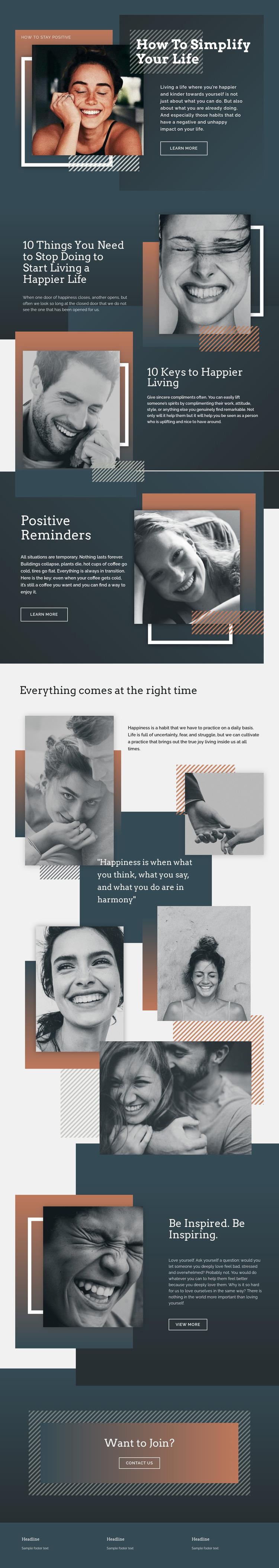 Make your life lighter Website Mockup