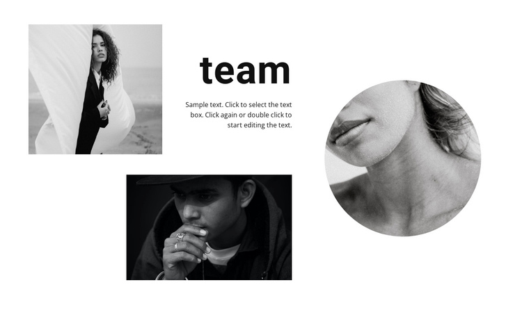 A team of young designers One Page Template
