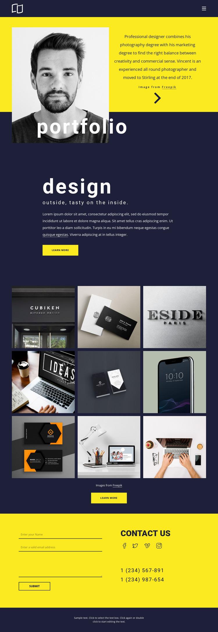 Amazing portfolio Website Mockup