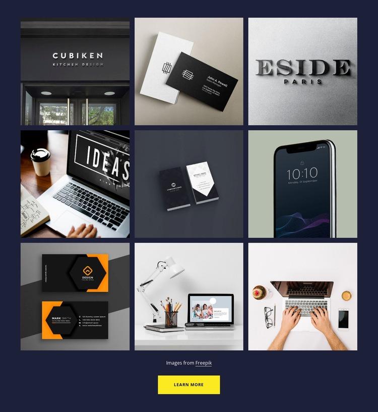 Portfolio gallery Web Page Designer