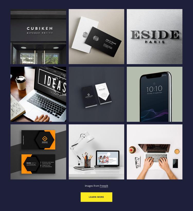 Portfolio gallery Website Builder Templates