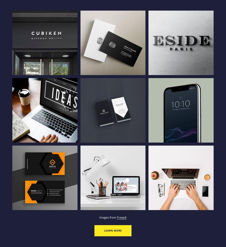 Portfolio gallery Website Design