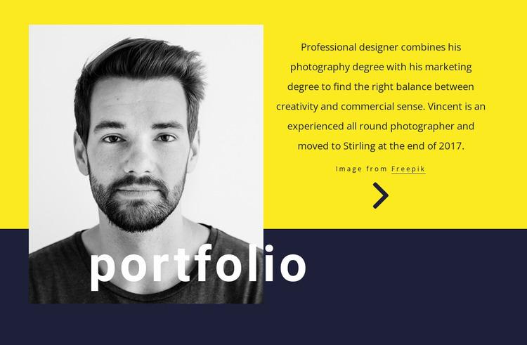 Graphic designer Website Mockup