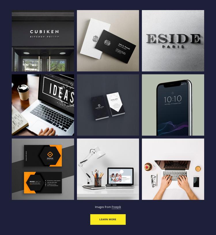 Portfolio gallery Website Template
