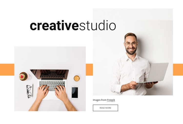 Creative work One Page Template