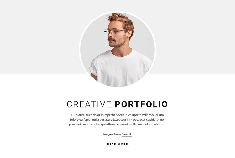 Web design Portfolio Html Code Example