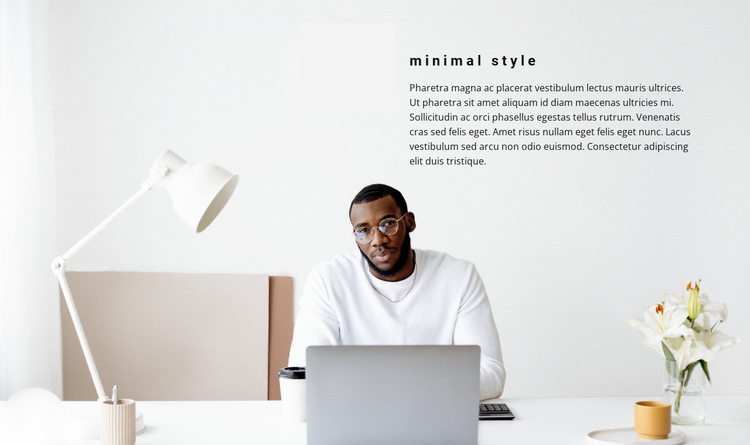 Minimalism in the workplace Website Builder Software